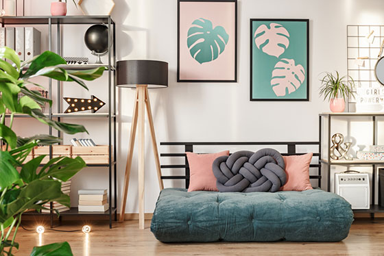 The word futon is Japanese, and refers to a traditional Japanese bed