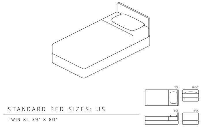 twin xl size mattress