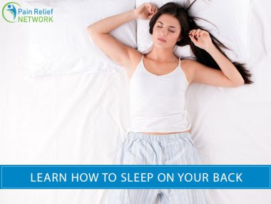 how to sleep on your back