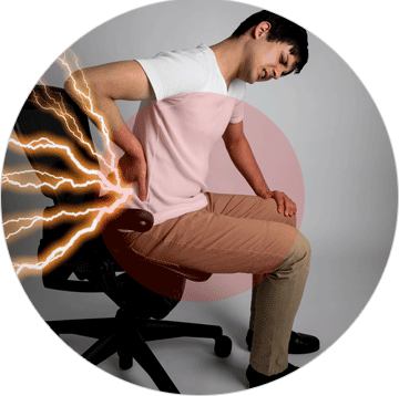 Hip massaging chairs