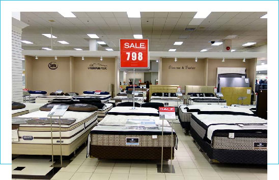 store sells mattresses