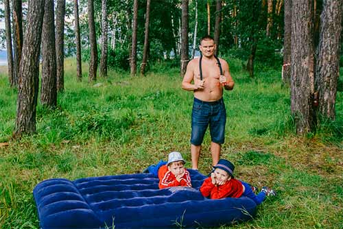 Air mattress for camping trips